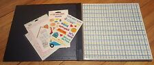 """Scrapbook Blue Vinyl 13"""" x 13"""" with """"New Home"""" themed pages / stickers"""