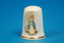 Peter Rabbit by Beatrix Potter China Thimble B/57