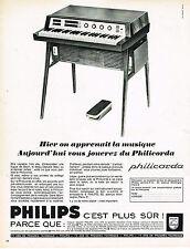 PUBLICITE ADVERTISING 0314   1965   PHILIPS      le PHILICORDA   piano