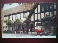 POSTCARD WILTSHIRE SAILSBURY - THE RED LION HOTEL