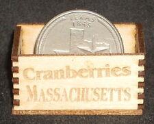Dollhouse Miniature Massachusetts Cranberries Produce Crate 1:12 Scale