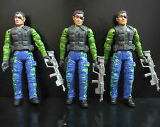 LOT of 3 UNIMAX TOYS BRAVO TEAM SECRET SOLDIERS FORCE Military ACTION FIGURE