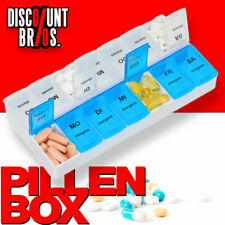 NEU █ Tablettenbox PILLENBOX Wochenbox 7 Tage 2 Fächer Medikamentenorganizer
