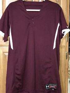 Women's Softball Jersey / 2XL  / Maroon / Under Armour / Short Sleeve / Coaching