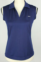 Slazenger Womens Golf Shirt Size S Dark Blue Sleeveless Polo