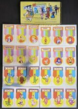 The Phantom 1975 King Features Put-Ons Comp Set 24 Foil Stickers + Rare Display