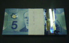 Canada $5 GEM UNC new polymer paper money Bank Notes Consecutive SNs bill