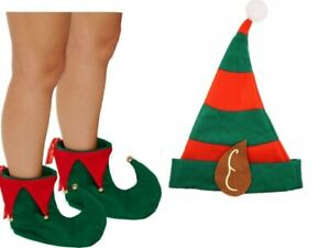 Elf Boots and Hat Jester Pixie Shoes n Hat Christmas Fancy Dress Costume Slipper