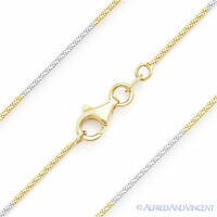 .925 Italy Sterling Silver 14k Yellow Gold 1mm Snake Link Italian Chain Necklace