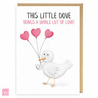Cute Thinking of You Card, Sending Love, Miss You Friend, Birthday Little Dove