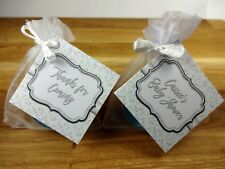 Baby shower gift scented candles favours tealights Triangles blue boy x 10 pack
