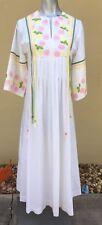 Vintage Samantha Scott Of California Bohemian Caftan Medium Women's Dress Peace