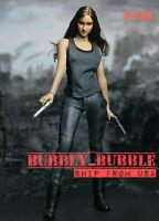 1/6 Shailene Woodley Divergent Head Sculpt Clothing Set For Phicen Female Figure