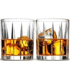 Whiskey Glasses Set - Set Of 2, 8 oz. Double Old Fashioned Whiskey Weighted