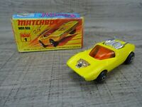 Vintage Lesney 1971 Mod Rod No 1 Matchbox Superfast Diecast Toy Car Boxed