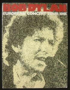BOB DYLAN 1981 EUROPEAN TOUR PROGRAM