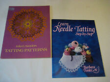 Tatting instructions booklets Needle Foster Antique vtg Patterns Dover Sanders