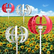 600W 12/24V Vertical Axis Garten Wind Turbine Generator Windrad Windkraftanlagen