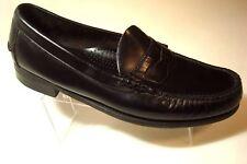 DEXTER Mans Black Leather Casual Penny Loafers Shoe Size 10 D Moc Toe slip On