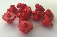 *NEW* 20 Pieces LEGO Large Rounded Flower 2x2 RED OPEN STUD