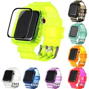 For Apple Watch 6 SE 5 4 3 2 1 Elastic Belt Loop Silicone Band+Screen Protector