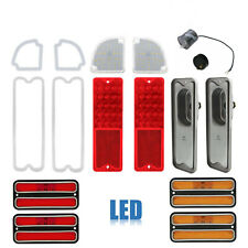 67-72 Chevy & GMC Truck LED Red Tail & Back Up Light w/ Side Marker Lenses Set