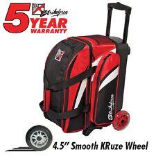 KR Cruiser Premium 2 Ball Roller Bowling Bag Color Red/Black