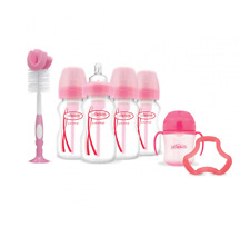 Dr Browns OPTIONS+ 4 Bottle Exclusive Set Anti-Colic Gift Set Pink Colours 0+