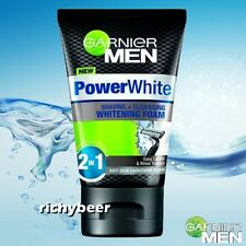 1x100g. Garnier Men 2 in 1 Shaving + Cleansing FOAM Face Wash Power White Bright