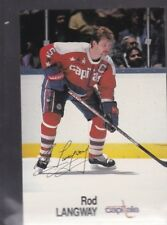 1988-89 ESSO HOCKEY ROD LANGWAY CAPITALS NMMT *56252