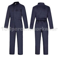 Aqua Navy Blue Heavy Duty Flame Retardant Cotton Overalls Coverall Boiler Suit