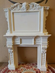 Artisan Sue Cook Dolls House Fireplace and Overmantle