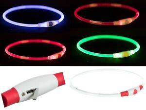 Leuchthalsband NEU Hund LED-USB Trixie Flash Leuchtschlauch Hundehalsband NEU