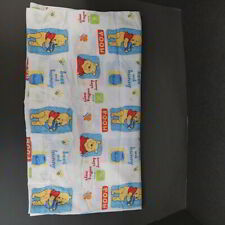 New ListingVintage Winnie The Pooh Crib Sheet Nursery Bedding Fitted One End Flat Top Sheet