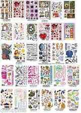 30 sheets RUB ON TRANSFERS MEGA SELECTION CARDMAKING SCRAPBOOKING GLASS ART