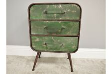 Industrial Factory Style Rustic Metal Drawer Unit / Bedside Table