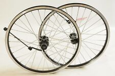 20 x 1.75 FOLDING BIKE MTB WHEELS,BLACK DUAL WALL SHIMANO 8/9SPD CASSETTE