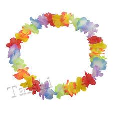 10X Fancy Hawaiian Flower leis Garland Necklace Dress/Party/Hawaii/Beach/Fun