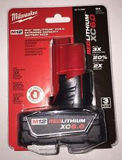 Milwaukee 48-11-2460 M12 REDLITHIUM XC 6.0 Ah EC Li-Ion Battery Pack  new