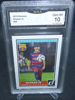 2015 Donruss Soccer Neymar Jr. Card #69 GMA Graded Gem Mint 10 FC BARCELONA #2