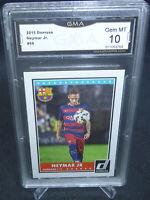 2015 Donruss Soccer Neymar Jr. Card #69 GMA Graded Gem Mint 10 FC BARCELONA #2