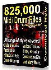 825,500 Drum Midi Collection EZ Drummer Superior Drummer Battery Addictive Drums