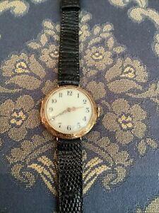 Antike Jugendstil Taschenuhr als Armbanduhr  585 Gold Deckel Ziseliert