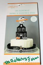 HALLOWEEN HAUNTED HOUSE  PARTY CAKE DECORATING KIT 19 PC EASY TO USE KIM BYER