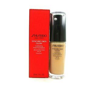 Shiseido Synchro Skin Glow Luminizing Fluid Foundation Spf 20 ~ Rose 4 ~ 1 oz