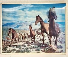 Rare Vtg Wild Horses Mustangs 5D Lenticular Holographic Stereoscopic Picture