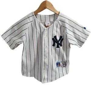 Russell athletic Vintage Kids NY yankees GIAMBI #25 baseball Jersey Sz 5 / 6