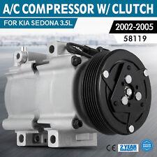 PRO AC A/C Compressor for 2002-2005 Kia Sedona 3.5L V6 1K52Y-61450 58119 made