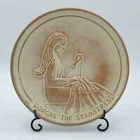 DORCAS THE SEMAMSTRESS Frankoma Pottery 4TH of 10 Plates Teen-Agers of The Bible