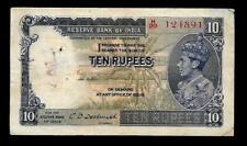 Rs 10/- British India KING GEORGE VI CRISP ISSUE Signed By C.D DESHMUKH